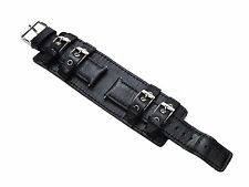 Genuine Leather Watch Bands, Set of 10, Black 18 mm with Buckles, HCW Brand New