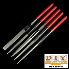 5pcs Metal Needle Files Set Carving Jewelry Diamond Glass Stone Wood Craft ToolF
