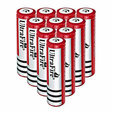 10PCS UltraFire Li-ion 18650 Battery 4000mAh 3.7V Rechargeable Battery US Stock