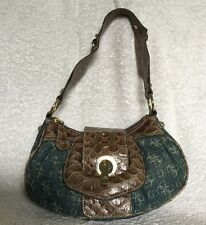 GUESS Faux Leather/Denim Shoulder Bag / Handbag