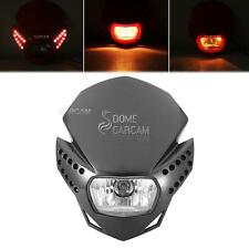 Black LED Headlight Fairing Kit For Suzuki DRZ RM RMX 125 250 400 RMZ250 RMZ450
