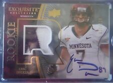 2010 UD Exquisite AUTO PATCH Rookie *ERIC DECKER* RC! #ed/120 NYJ  10 Upper Deck