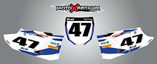 Yamaha YZ 125 / 250 - 2015 - 2016 Custom number plates STORM Style Stickers