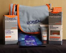 L`OREAL Men Expert Anti Fatigue Kit with Washbag and Cleansing Gel