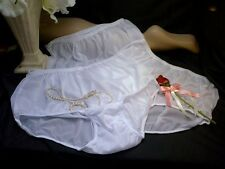 3 PR VTG SISSY SHEER SILKY NYLON PANTIES KNICKERS SO FEMININE YET DISCREET MED