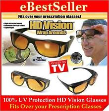 2 Pair AS SEEN TV HD Wrap Around Night Vision Driving Glasses  Special