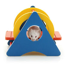 Colorful Wooden Swing Exercise Sport Toy for Small Animal Hamster Rat