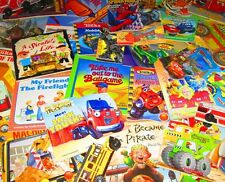 BOY'S Children/Kid Book Lot FREE SHIPPING - Trucks, Batman, Tractors, Tonka,..