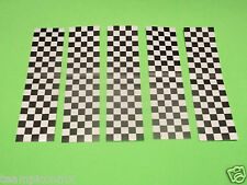 REFLECTIVE CHECKERED BLACK STICKERS MOTORCYCLE HELMET SCOOTER POLICE SAFETY BI