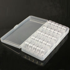 Simple Nail Art Tip Sequin Drill Storage Box Case Organizer Empty 25-Compartment