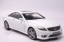 Benz CL63 AMG car model in scale 1:18 white