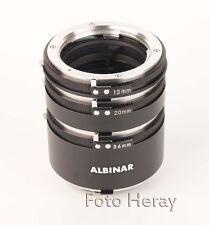 Albinar Extension Tube entre anillos 3er set 36mm 20mm 12mm Minolta MD/Sr 03471