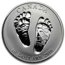 2016 Canada 1/2 oz Silver $10 Welcome Baby Reverse Proof - SKU#95295