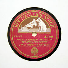 "FATS WALLER & HIS RHYTHM ""You've Been Reading My Mail"" HMV JO-274 [78 RPM]"