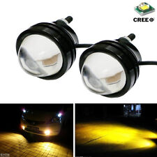 2 Pcs High Power Car Golden Eye Yellow 5W CREE LED Projector Fog Light DRL Lamps