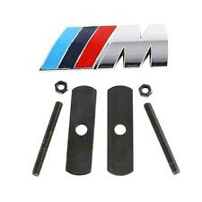 Set 3D Grill + Boot/Rear + Steering Wheel Chrome Badge Emblem For BMW M3 M5 M6