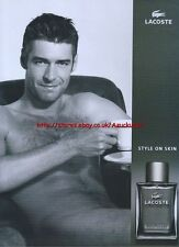 "Lacoste ""Style On Skin"" 2004 Magazine Advert #85"