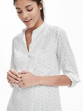 Banana Republic Limited Edition White Lace Shirt, Top, Blouse, sz S