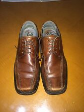 Mens Men's Kenneth Cole New York Silver Technology Brown Oxfords Shoes Size 8