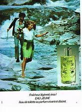 PUBLICITE ADVERTISING 084  1972  EAU JEUNE   eau de toilette