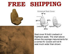 New 2 Front Synthetic Sheep Skin Sheepskin Car Truck Seat Cover- Beige / Tan