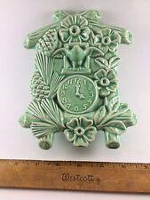 Vtg Wall Pocket Coo Coo Clock Green (F)