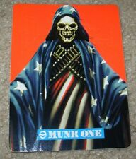 MUNK ONE Sticker SKELETON FLAG from poster print Invisible Industries