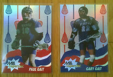 Gary and Paul Gait 1992 MILL Superstar Nastasi Lacrosse Cards - Mint Condition