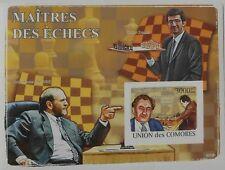 CHESS Fischer Kramnik Petrosian Comores Comoros m/s Sc.1064 MNH #CM8210b IMPERF