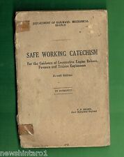 #BB. 1958  NSW RAILWAY BOOK - SAFE WORKING CATECHISM FOR  DRIVERS, FIREMEN, etc
