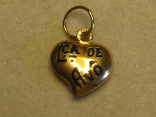 A NEW PORTUGUESE 19.2 KT GOLD Lca de AVO^  HEART CHARM FROM PORTUGAL #03-0155