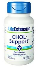 TWO BOTTLES $28 Life Extension Chol Support HDL LDL Cholesterol heart health