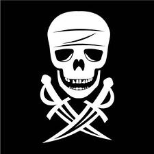 JOLLY ROGER SKULL   CAR DECAL STICKER