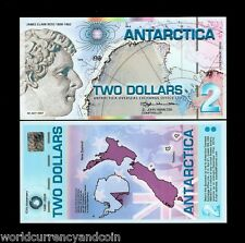 ANTARCTICA 2 DOLLARS NEW 2007 PENGUIN POLYMER UNC FUN CANADA USA MONEY BILL