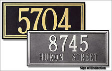 Whitehall Double Line Large Address Marker Estate Size Custom Sign in 17 Colors