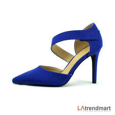 New Lady D'Orsay Pointy Toe Single Ankle Strap Fastener Stiletto Heel Pump Show