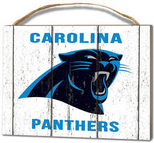 Carolina Panthers Small Plaque - Weathered Logo [NEW] NFL Sign Wall Wood