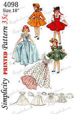 Vintage 18 inch doll sewing pattern - 1950's