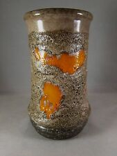 Vintage Small Strehla Keramik Lava Vase Made in GDR 7260
