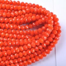 100pcs Orange Top Quality Czech Crystal Faceted Rondelle Beads 6X4MM