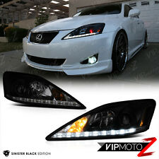 "2006-2013 Lexus IS250 ""SINISTER BLACK"" LED DRL Headlights Assembly LEFT RIGHT"