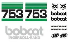 (ORIGINAL LOOK) NEW BOBCAT 753 FULL DECAL STICKER SET KIT SKID STEER B