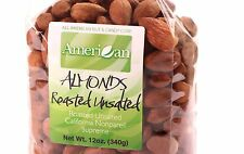 12oz Gourmet Style Bag of UnSalted Roasted Almonds [3/4 lb.]
