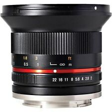 NEW Samyang 12mm F2.0 Wide Angle Lens for SLR and DSLR CAMERAS with Case Samsung