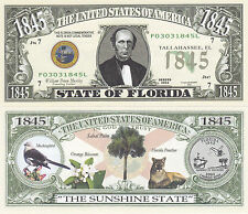 100 Florida FL State Quarter Novelty Currency Bills Lot