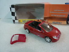 # NOREV PEUGEOT 307 CC ROUGE ECH 1/64 3 INCH NEUF EN BOITE OXYDATION AU CHASSIS