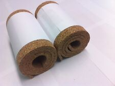 CORK ROLL - 2 ROLLS - 1 meter X 195 mm - 8 mm THICK.  CORK SHEET.
