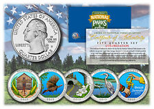 2015 Colorized National Parks America the Beautiful Coins *Set of all 5 Quarters
