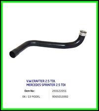 Radiator Hose Mercedes SPRINTER vw CRAFTER 2.5 TDI 06-13 2E0122051 9065010382