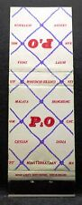 P&O Lines . Match Book Cover, Ocean Liner Vessel Cruise Ship Sea Boat British UK